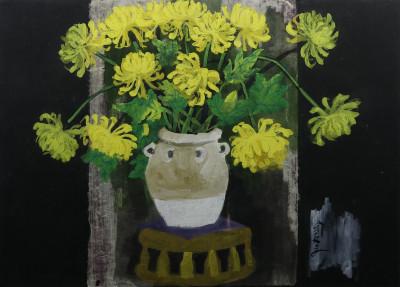 Tĩnh vật hoa cúc